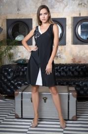 """17601 платье домашнее женское mia-mia """"black&white"""""""