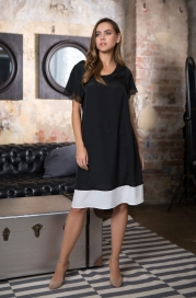 """17605 платье домашнее женское mia-mia """"black&white"""""""