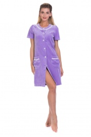 Велюровый халат на пуговицах La BRILLANCE (PM 393)