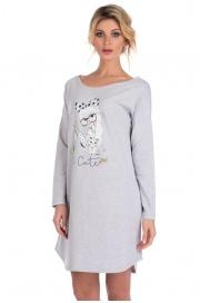 Домашняя туника - сорочка из натурального хлопка Lucky girl