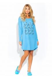 Домашняя туника - ночная сорочка из натурального хлопка Pussy ca