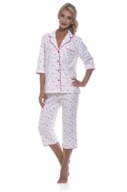 Женская уютная пижама с бриджами Délicate