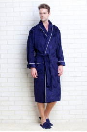 Мужской махровый халат STRONG MAN, тапочки в подарок (PM 923). П