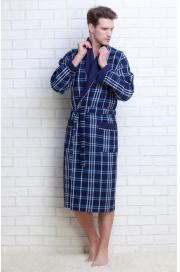 Мужской вафельный халат Gentelmen Style (E 10020)
