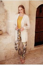 Стильный комплект - тройка. Вязанный кардиган, брюки и лонгслив