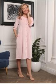 Велюровый халат на пуговицах KRYSTY (EFW)