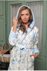 Укороченный махровый халат с капюшоном Garden (EFW)