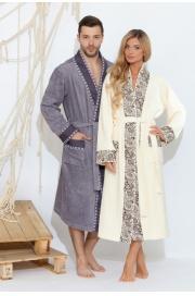 Стильный махровый халат Fancy (PM 723)