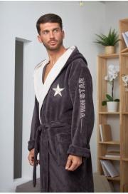 Махровый халат с капюшоном Wien Star (EFW)