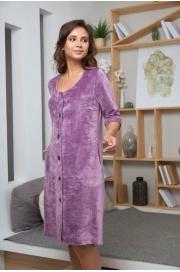 Велюровый халат на пуговицах Adel (EFW)