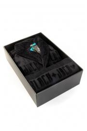 Набор: махровый халат и полотенце Black Jack в подарочной коробк