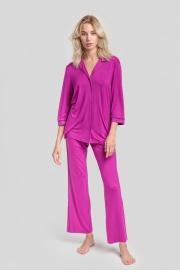 Пижама с брюками темная фуксия (51926L) Laete
