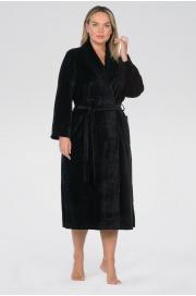 Удлиненный велюровый халат Curves (E 383)
