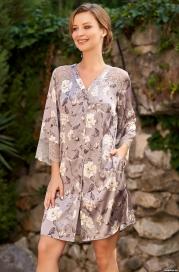 Рубашка Mia Amore с принтом 3587 (70% натуральный шелк)