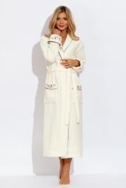 Длинный махровый халат-кимоно