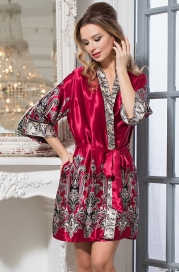 Короткий халат-кимоно Mia-Amore 3143 JUSTIN (70% шелк)