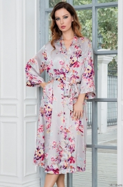 Длинный халат–кимоно Mia-Amore 3139 GRACE (70% шелк)