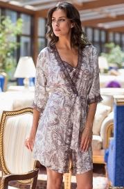 Короткий халат-кимоно Mia-Amore 3083 EVITA (70% шелк)
