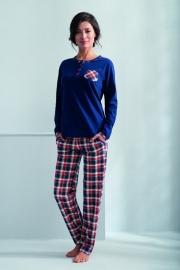 Пижама с штанами в клетку Luna 596