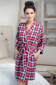 Короткий классический халат Mia-Mella 6563 SCOTLAND