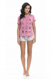 Пижама женская с шортиками из хлопка