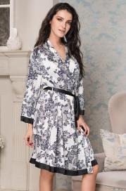 Короткий расклешённый халат Mia-Mella 8165 PAULINA