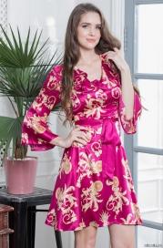Короткое платье-халат на пуговицах Mia-Mella 8707 VERSACHI DELUX