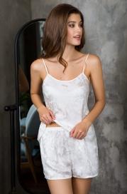 "Женская пижама с шортиками из нат. шелка mia-mia 15152 ""eva"""