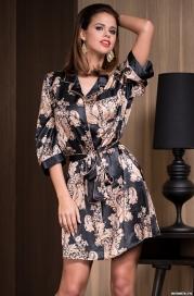 Рубашка-халат Mia-Amore 3307 GOLDEN FLOWER (70% нат.шелк)