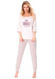Пижама женская из хлопка Rossli розовая