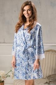 Короткий халат Mia-Amore 5983 BRIGITTE 70% натуральный шелк