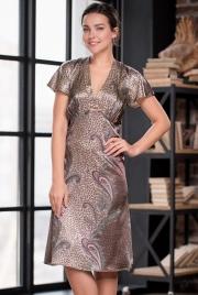 Длинная сорочка Mia-Amore 3328 MOKKA 70% натуральный шелк