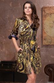Халат -рубашка MIA_MIA ARMANI GOLD 3497 (70% натуральный шелк)