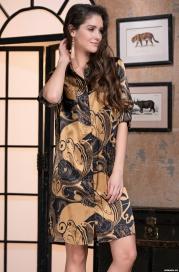 Рубашка - халат Mia-Amore ANTIKA 3477 (70% натуральный шелк)