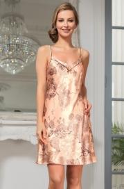 Короткая шелковая ночная сорочка Mia Amore LETUAL (70% нат.шелк)