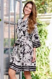 Короткий шелковый халат Mia Amore Ясмин 8633