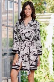 Короткий шелковый халат Mia Amore Ясмин 8637