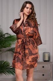 Короткий халат с принтом Mia Amore 8663(70% натур. шелк)