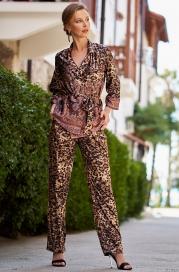 Домашний костюм - тройка из шелка Mia Amore Cleopatra 3566