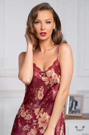 Короткая сорочка из шелка Mia Amore Burgundia 3620