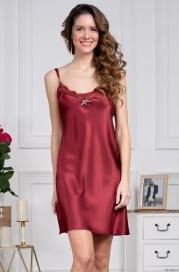 Короткая сорочка из шелка Mia Amore Burgundia 3621