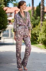 Шелковая пижама -тройка Mia Amore Estel 3616 (70% шелк)