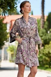 Шелковый халат Mia Amore Estel 3613 (70% шелк)
