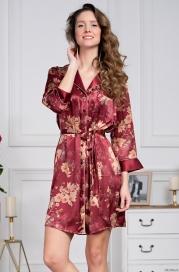 Короткий халат Mia Amore Burgundia 3627 (70% нат.шелк)