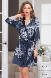 Шелковый халат - рубашка Alexandria (70% шелк)