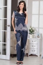 Домашний костюм -пижама из шелка Mia Amore 3576 (70% шелк)