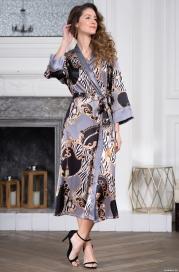 Классический длинный халат-кимоно Mia-Amore 8729