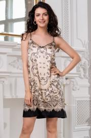 Короткая шелковая ночная сорочка Mia Amore Penelopa (70% нат.шел