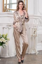 Шелковая пижама -тройка Penelopa (70% нат.шелк, Италия)