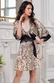 Короткий шелковый халат Mia Amore Penelopa (70% нат.шелк)